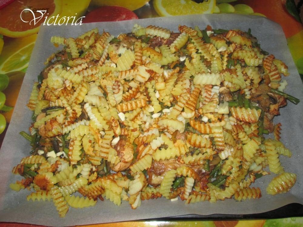 Овощное рагу с курицей - приготовление, шаг 11