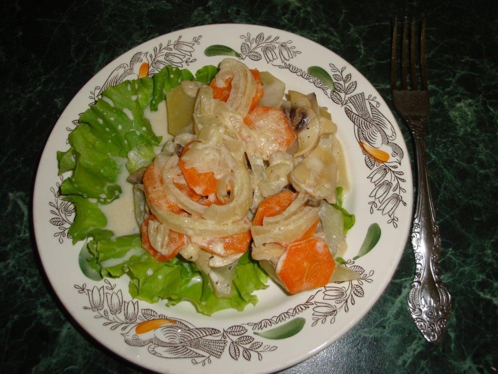 Картофельная запеканка или Постный чанахи - приготовление, шаг 5
