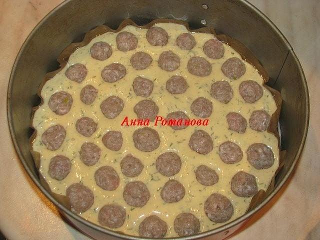 Пирог с мясными шариками - приготовление, шаг 1