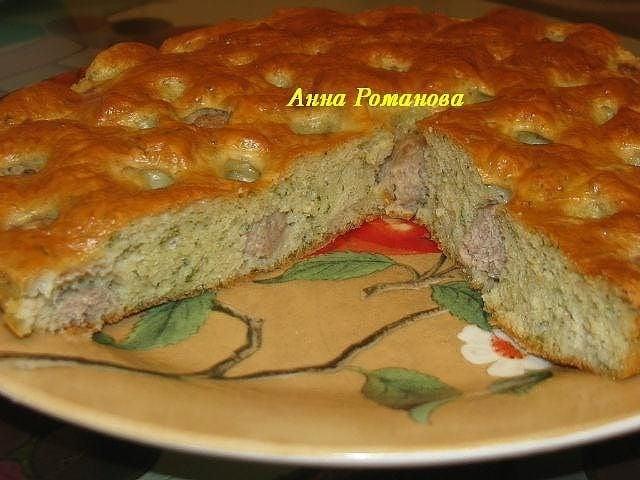 Пирог с мясными шариками - приготовление, шаг 2