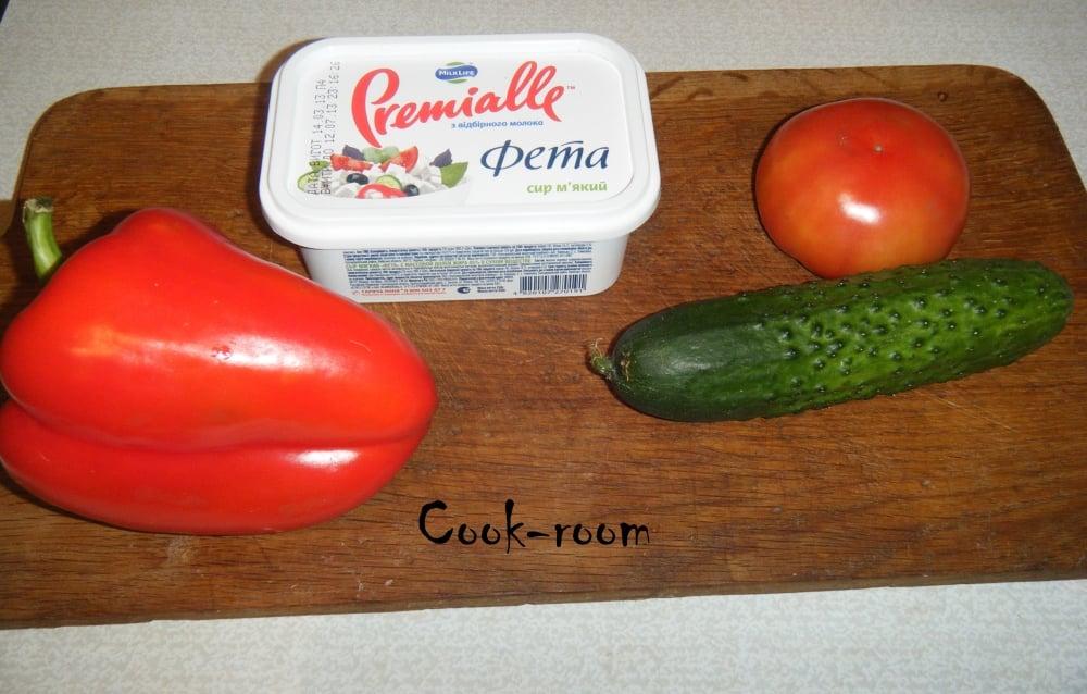 Салат греческий - приготовление, шаг 2