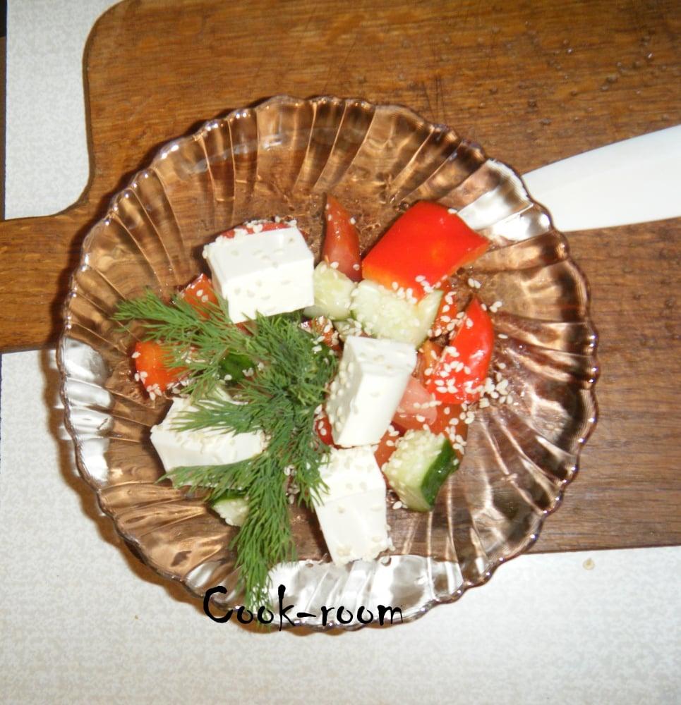 Салат греческий - приготовление, шаг 5