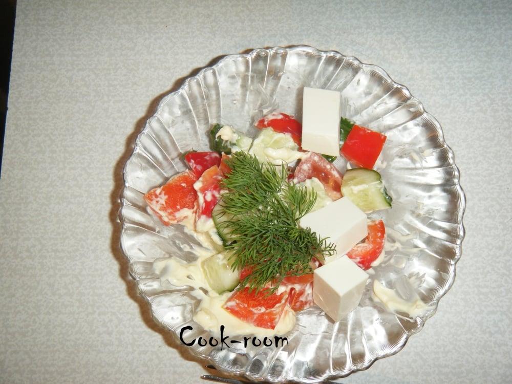 Салат греческий - приготовление, шаг 6