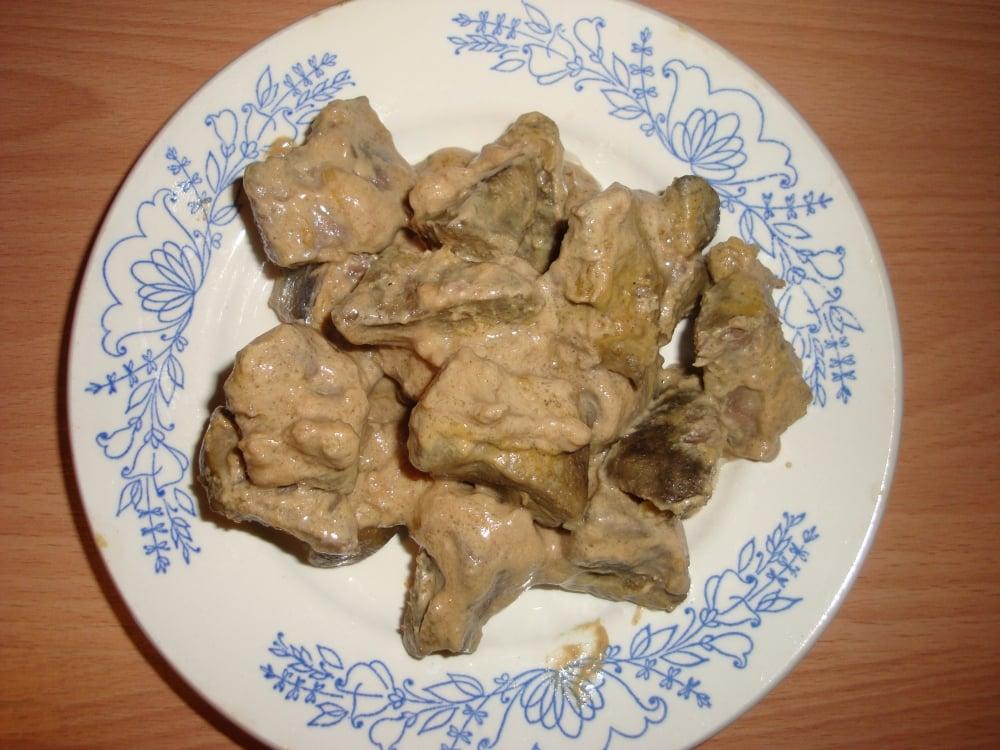 Печень по-строгановски - приготовление, шаг 4