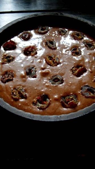 Постный шоколадный торт с финиками - приготовление, шаг 1