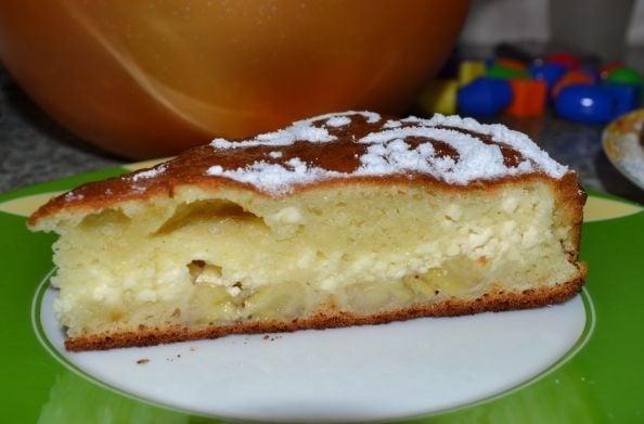Творожный пирог с бананами - приготовление, шаг 6
