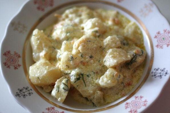 Картофель в сметане - приготовление, шаг 6