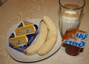 Молочный коктейль с бананом и нотками карамели - приготовление, шаг 1