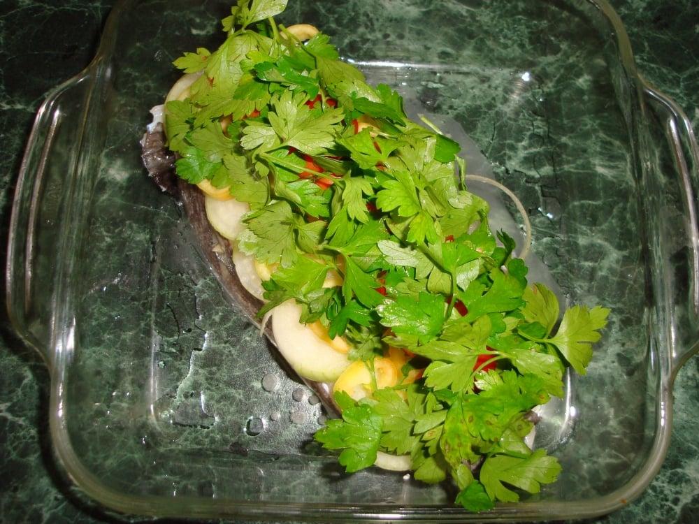 Стейк зубатки с овощами - приготовление, шаг 1