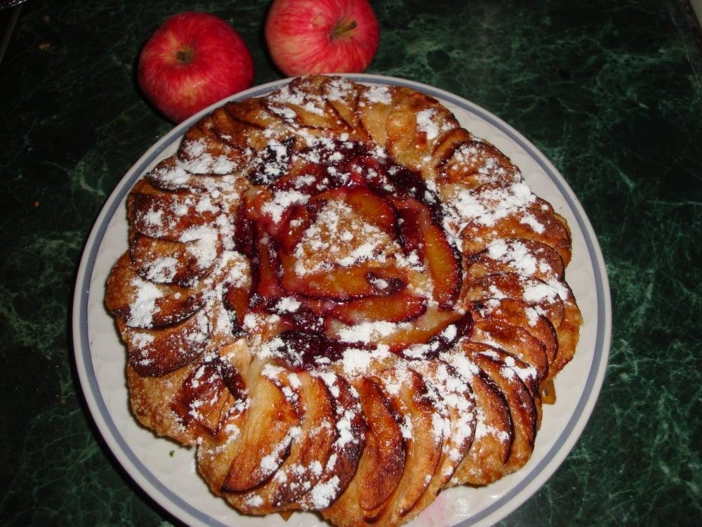 Постный сливово-яблочный пирог - приготовление, шаг 3