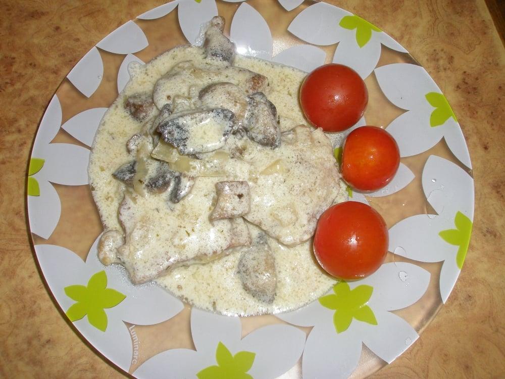 Телятина в сметане с грибами - приготовление, шаг 8