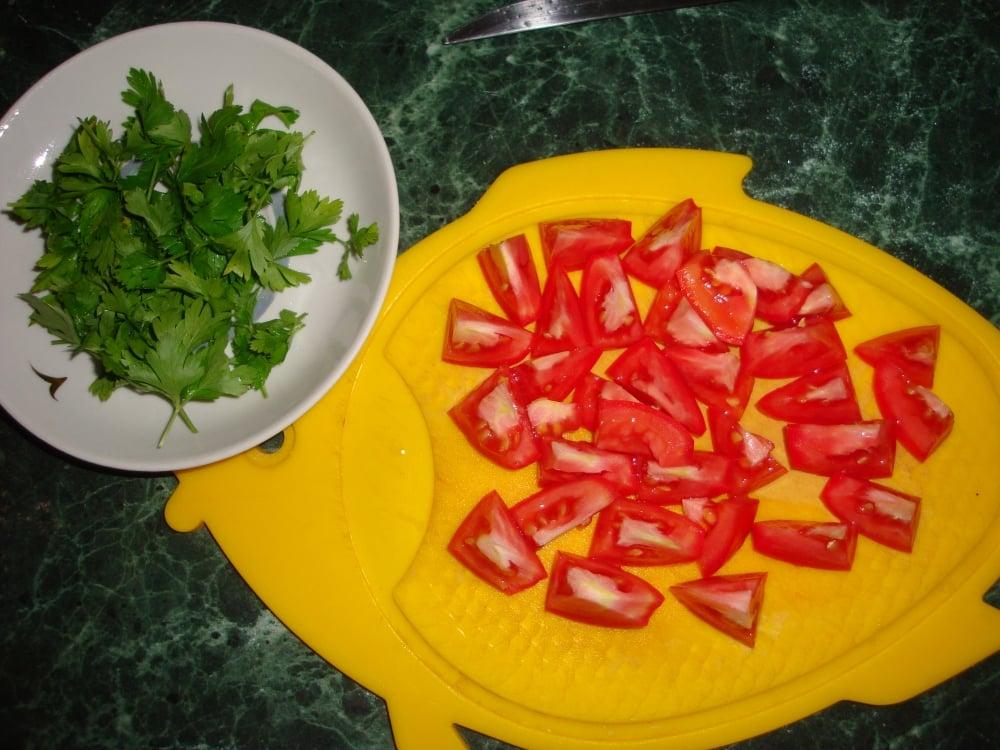 Овощной салат с фунчозой - приготовление, шаг 1