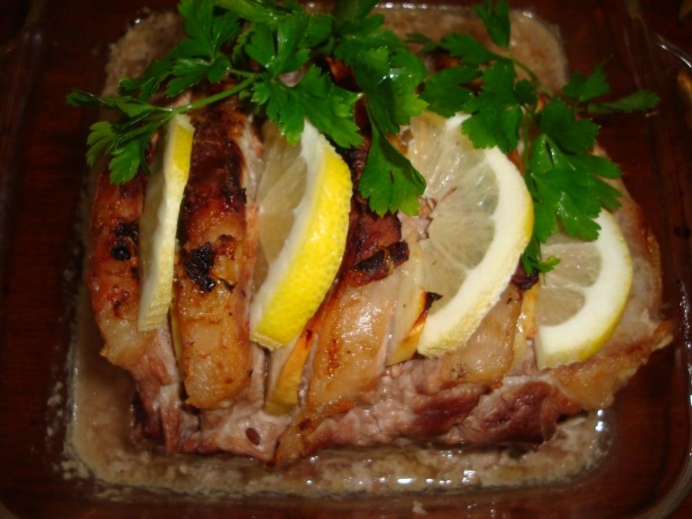 Свинина на ребре с яблоком и лимоном - приготовление, шаг 5