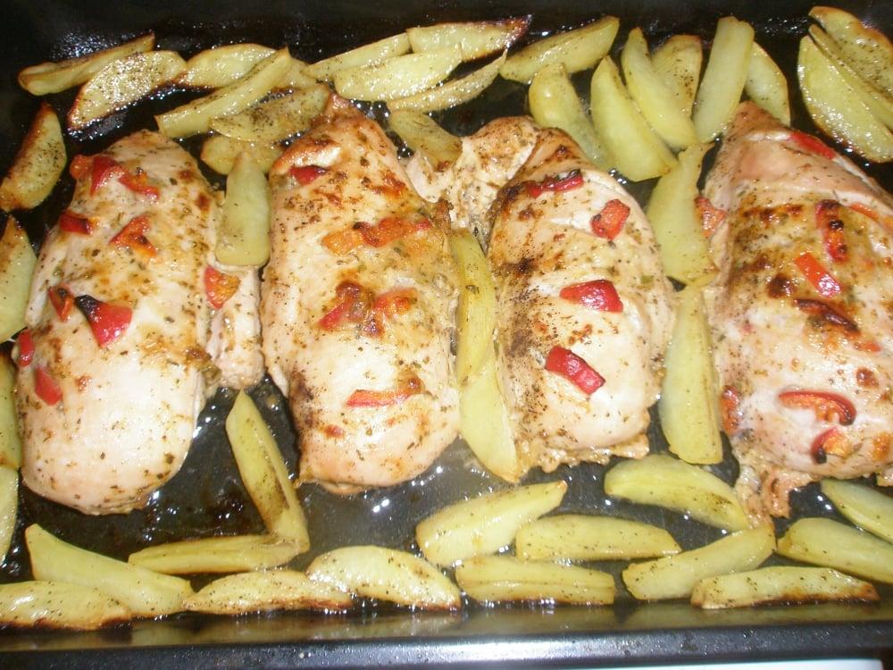 Куриное филе в духовке - приготовление, шаг 1