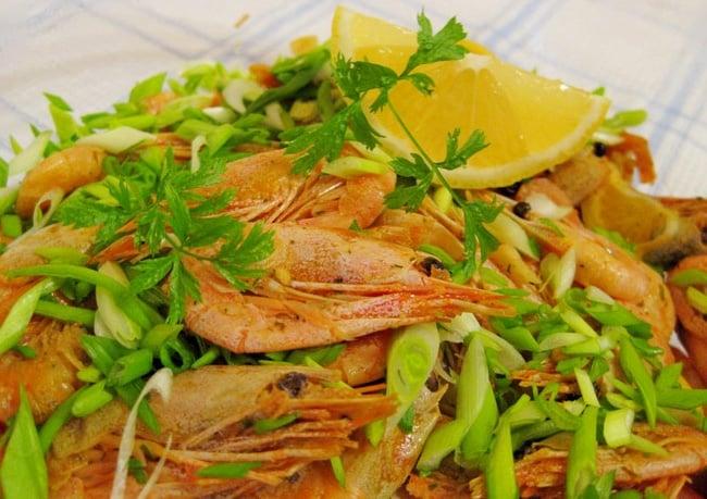 Жареные креветки с карри и соевым соусом - приготовление, шаг 4