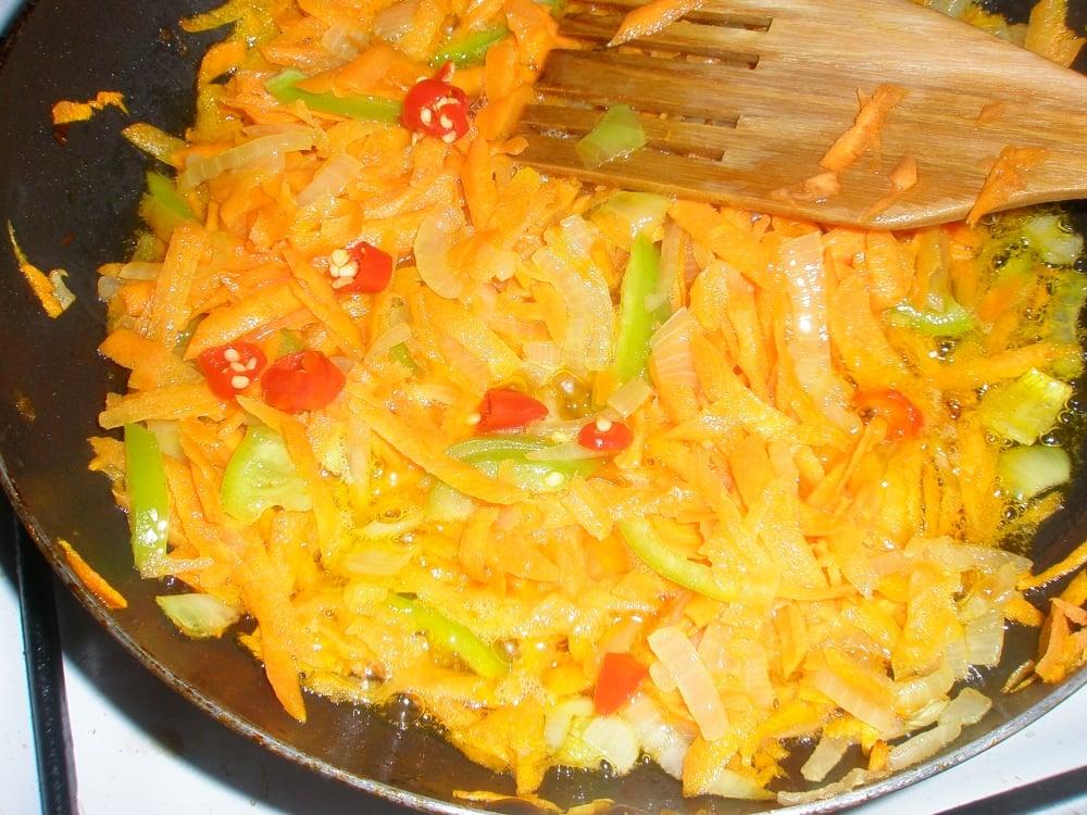 Рыба с овощами - приготовление, шаг 3