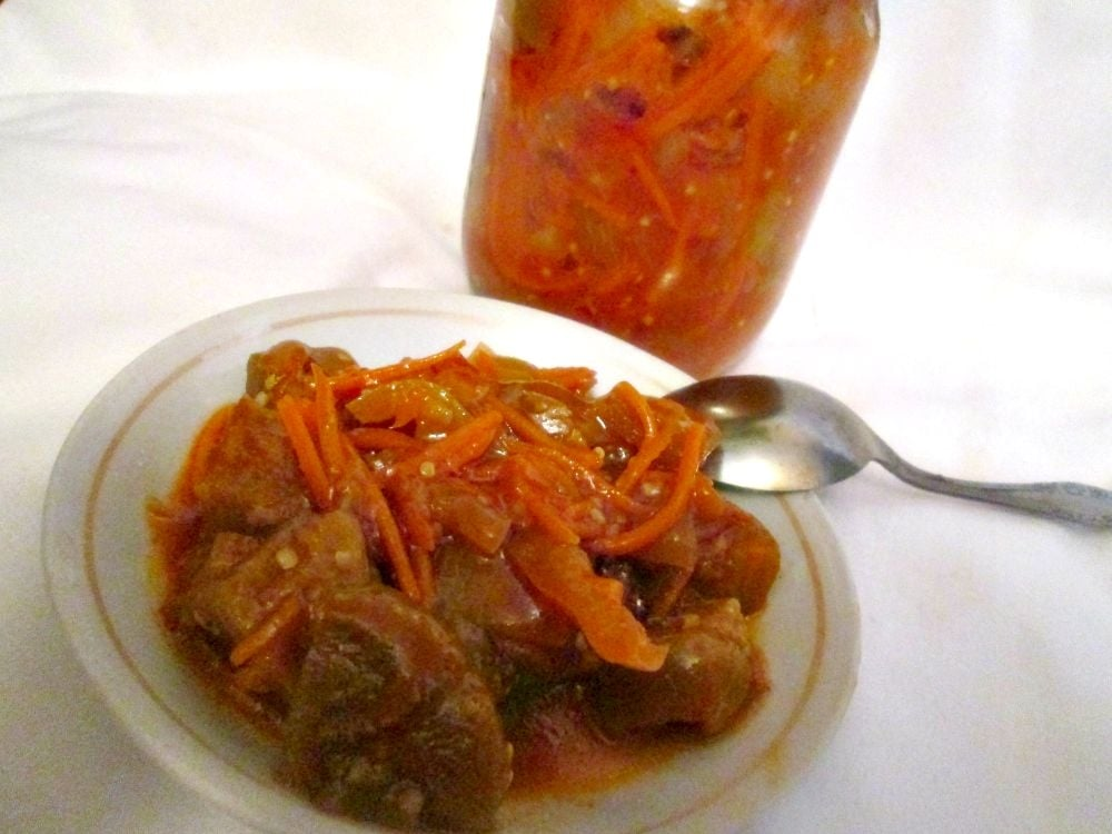 Салат из баклажан с морковью - приготовление, шаг 1