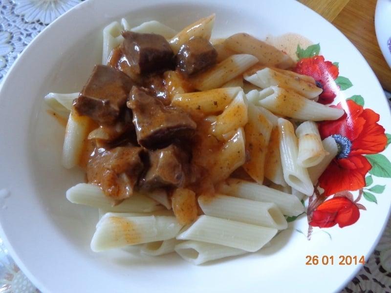 Тушеное говяжье сердце с подливой - приготовление, шаг 7