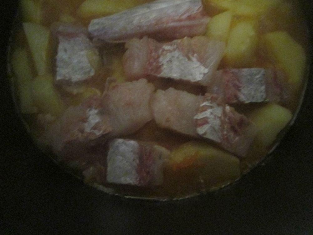 Треска,тушенная с овощами - приготовление, шаг 4