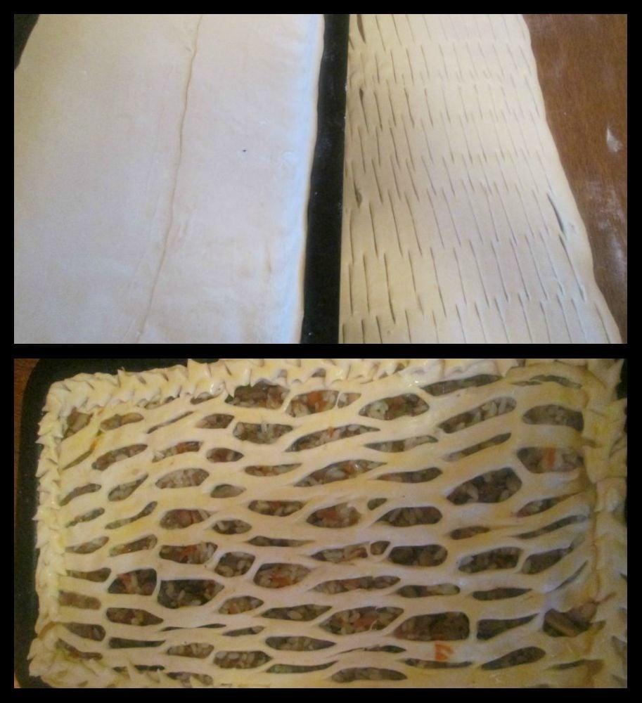Пирог с печенью и рисом - приготовление, шаг 4