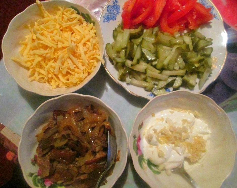 Мясной бризоль с овощной начинкой - приготовление, шаг 1