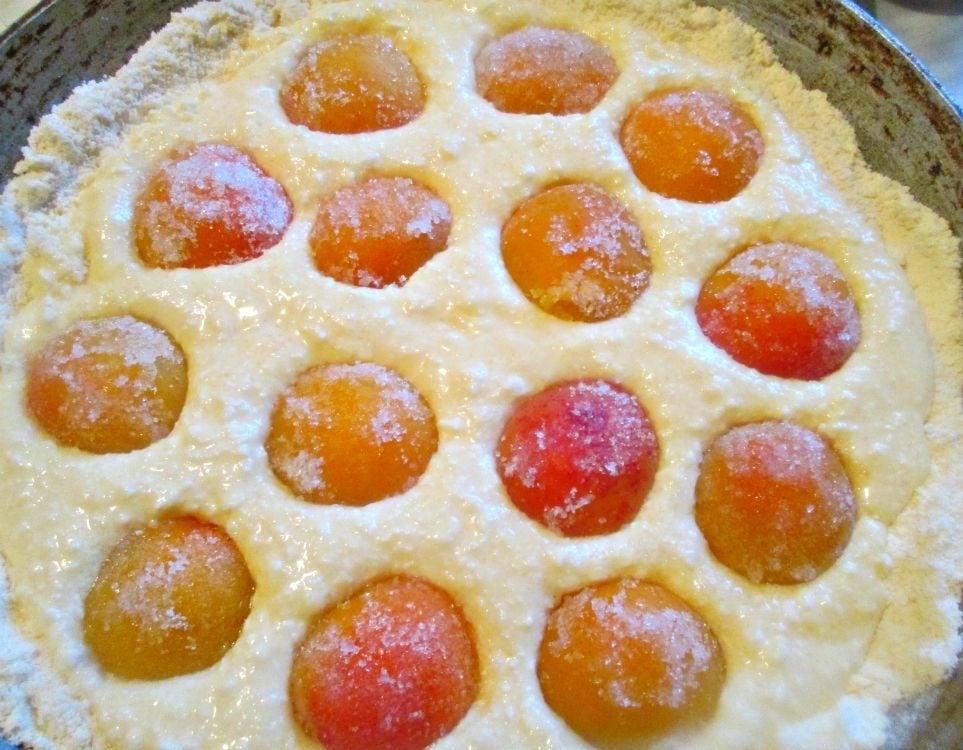Насыпной пирог с творожно-персиковой начинкой - приготовление, шаг 4