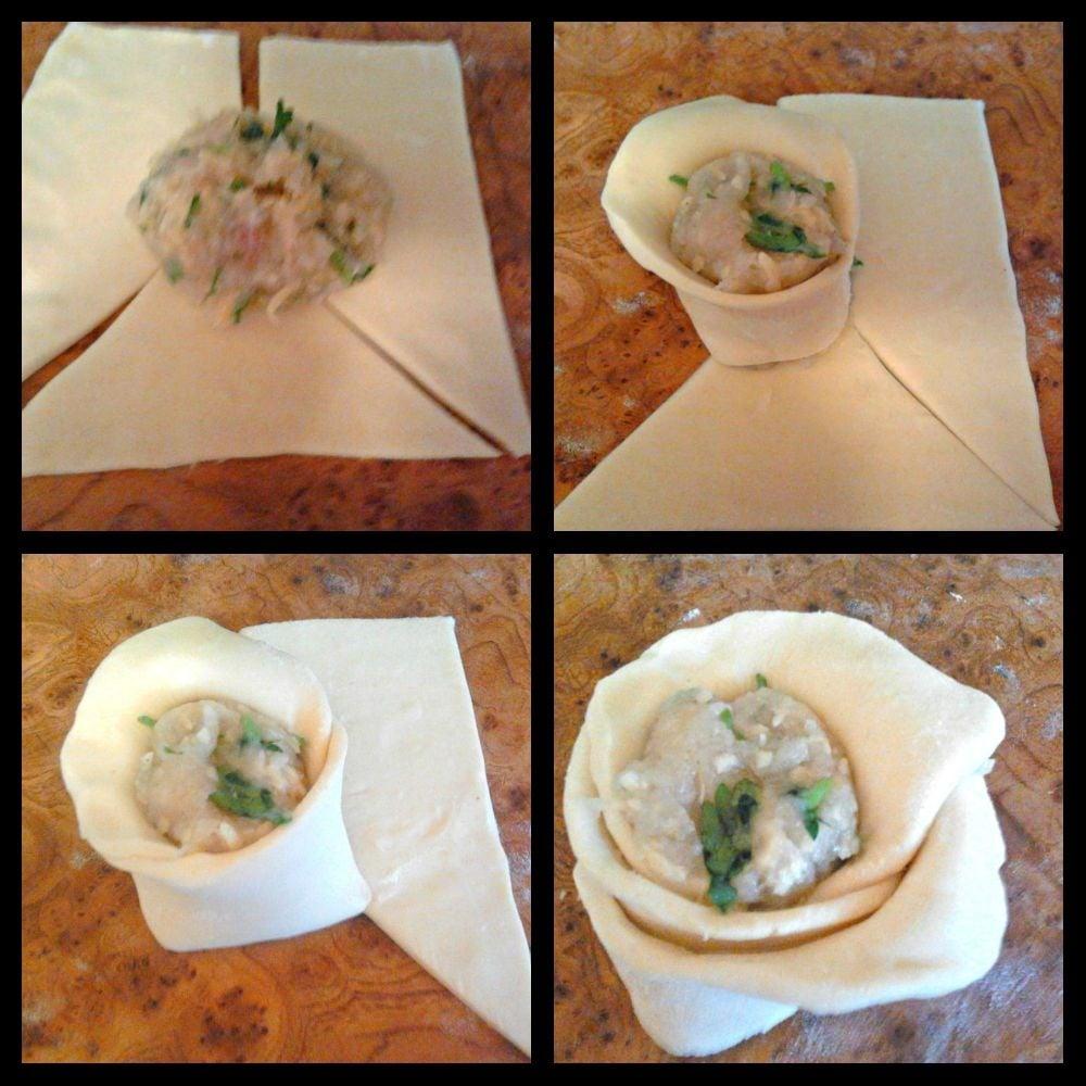 Закусочные пирожки с курицей и сыром - приготовление, шаг 3