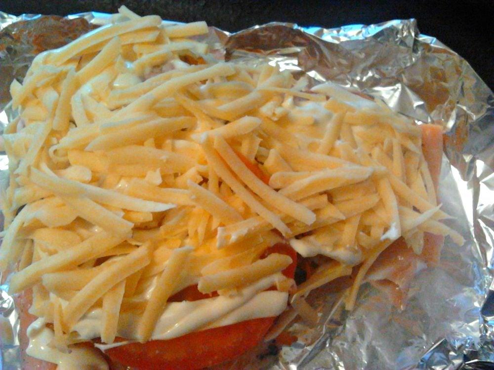 Семга под сырной корочкой - приготовление, шаг 4