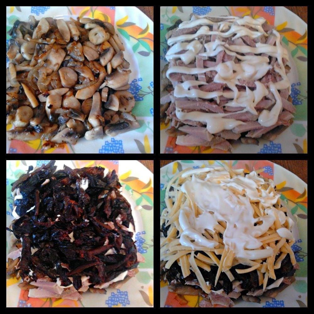 салат с черносливом фото и рецепт слоями