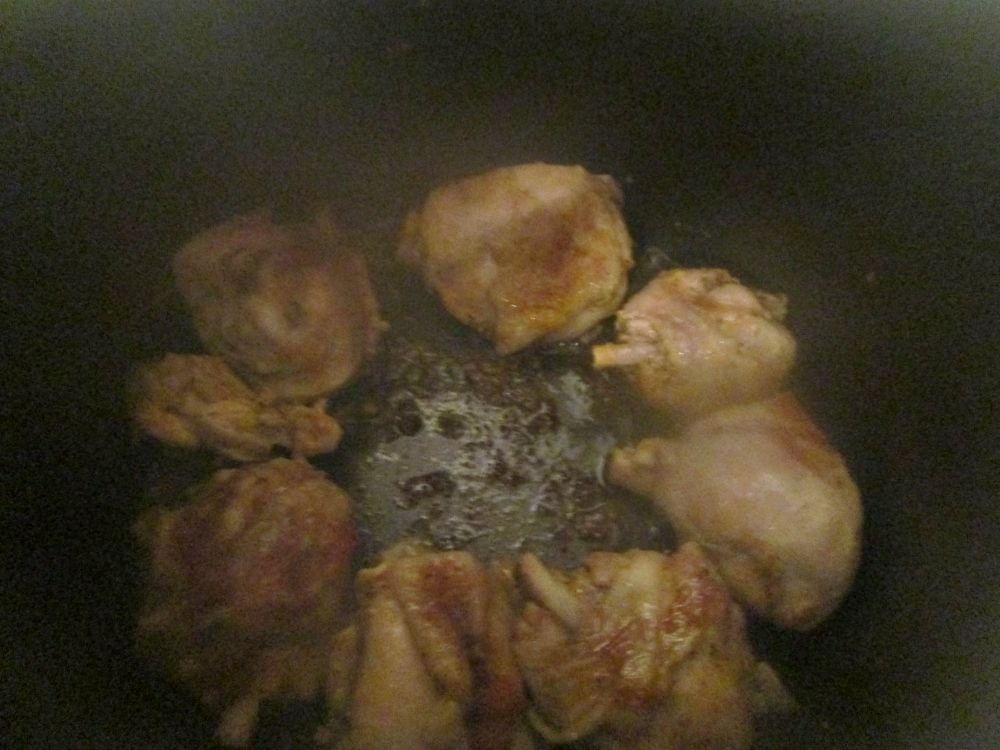 Курица с картошкой в мандариново-имбирном маринаде - приготовление, шаг 2