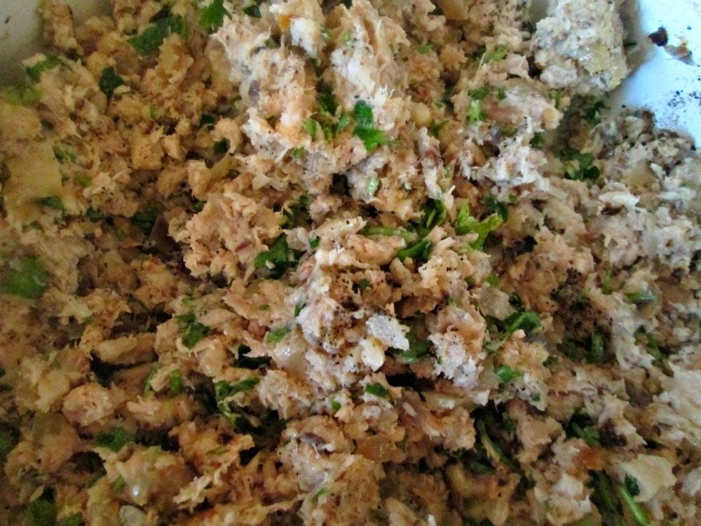 Картофельные зразы с курицей и зеленью - приготовление, шаг 2