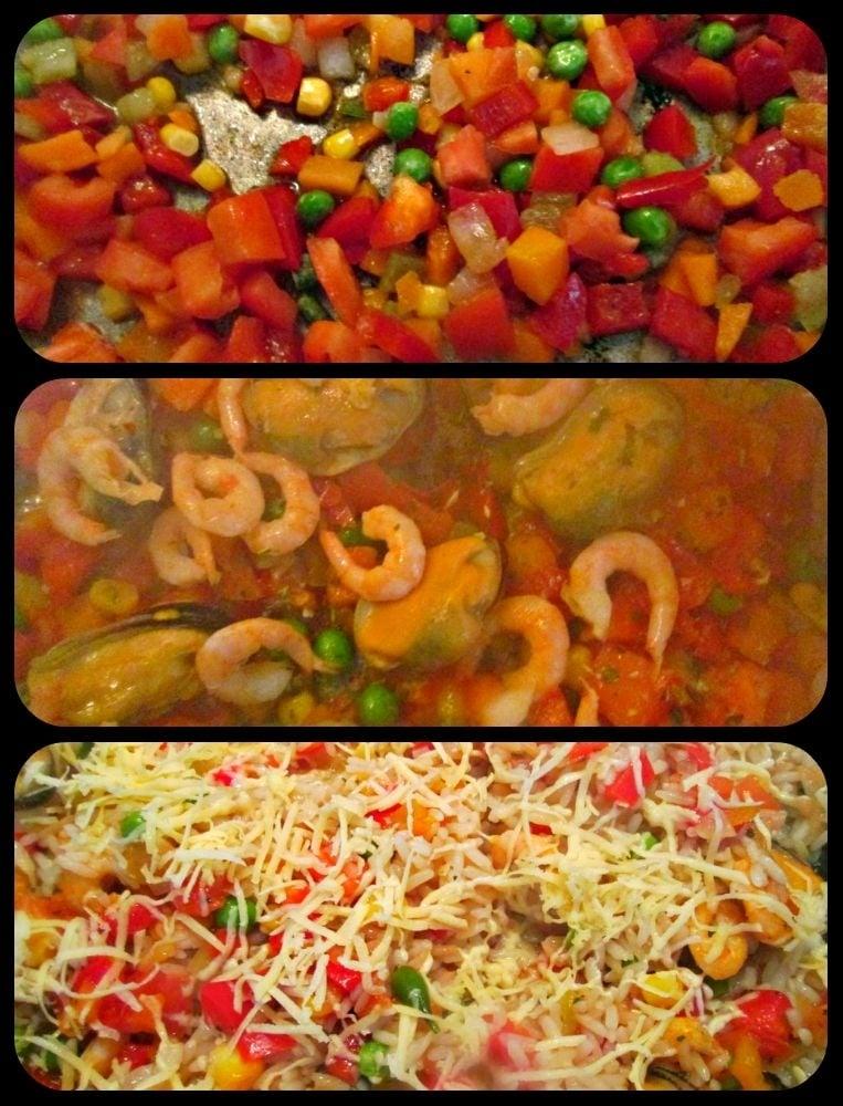 Рис с овощами и морепродуктами. - приготовление, шаг 2