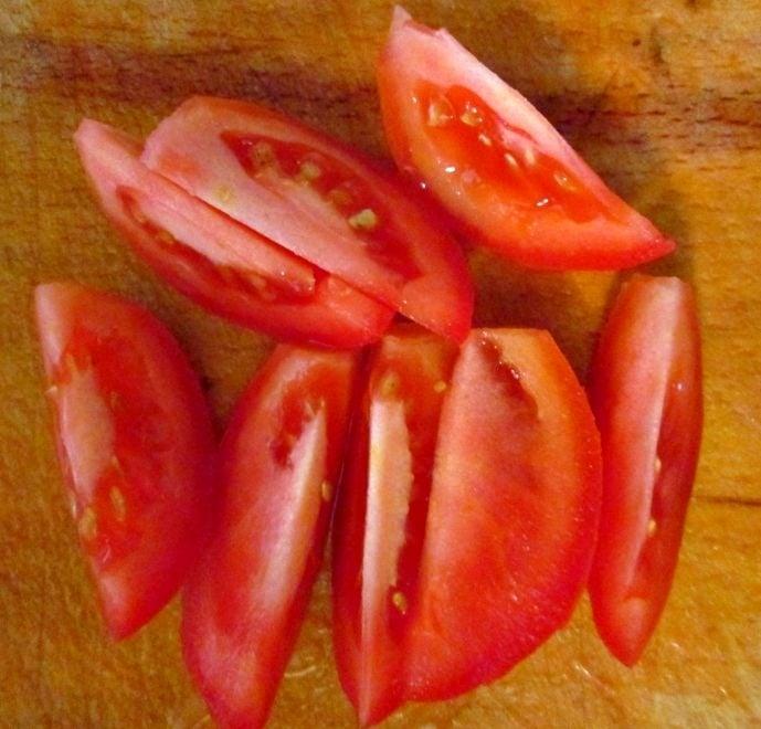 Азиатский салат с креветками - приготовление, шаг 4
