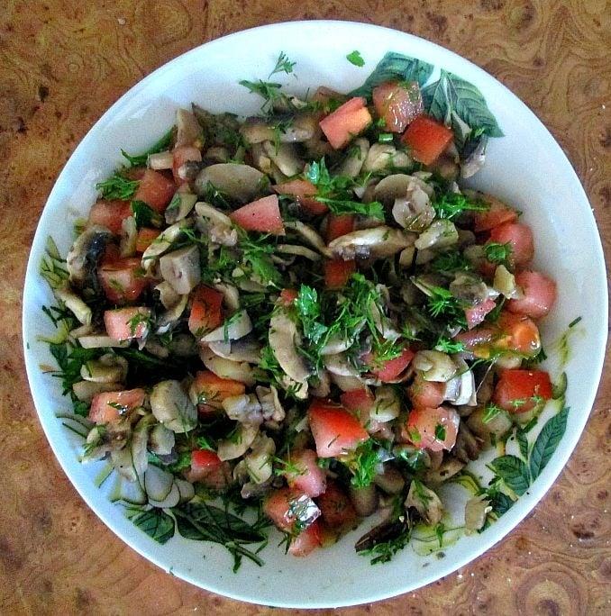 Мясной пирог с грибами из лаваша - приготовление, шаг 2