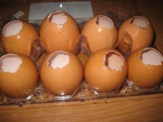 Заливные яйца - приготовление, шаг 1