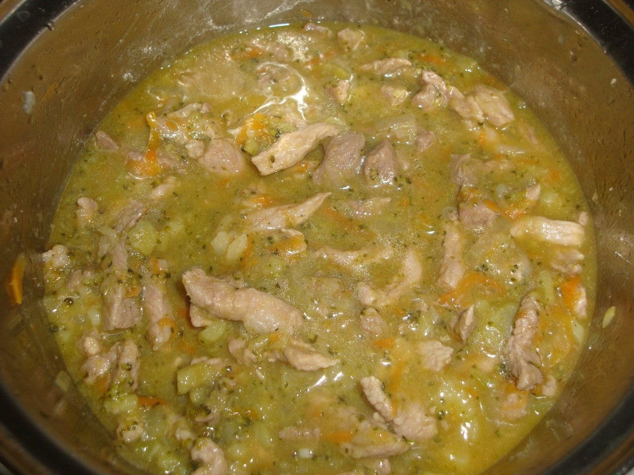 Гуляш из свинины с брокколи - приготовление, шаг 12