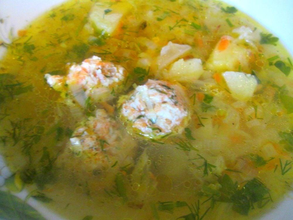 Суп с молодой капустой и фрикадельками - приготовление, шаг 6