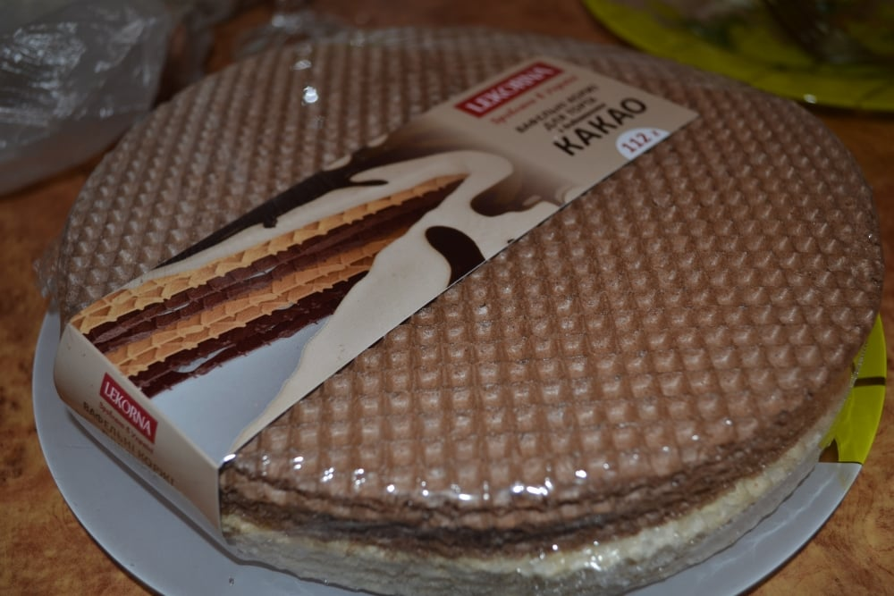 Торт вафельный с безе - приготовление, шаг 2
