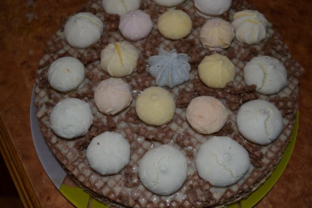 Торт вафельный с безе - приготовление, шаг 3