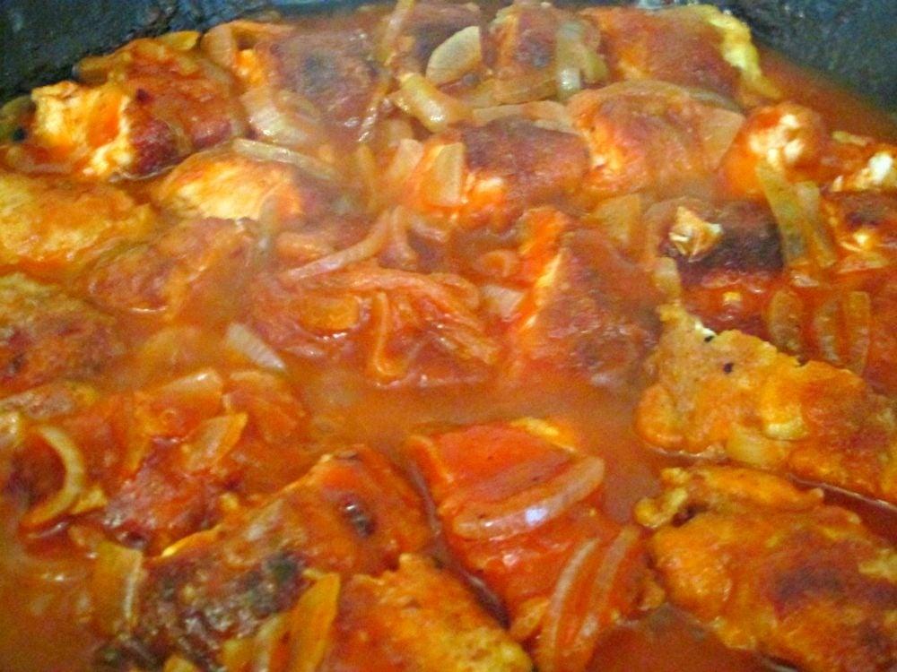 Куриное филе в томатно-лимонном соусе - приготовление, шаг 4