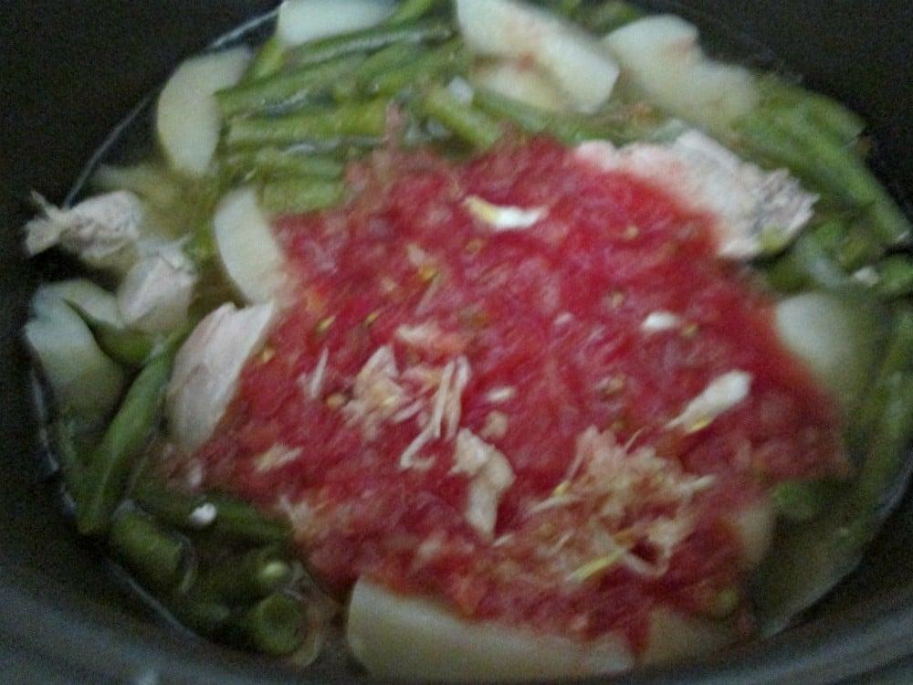 Картофель с курицей и фасолью - приготовление, шаг 4