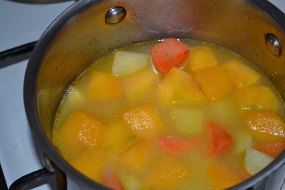 Тыквенный суп-пюре - приготовление, шаг 4