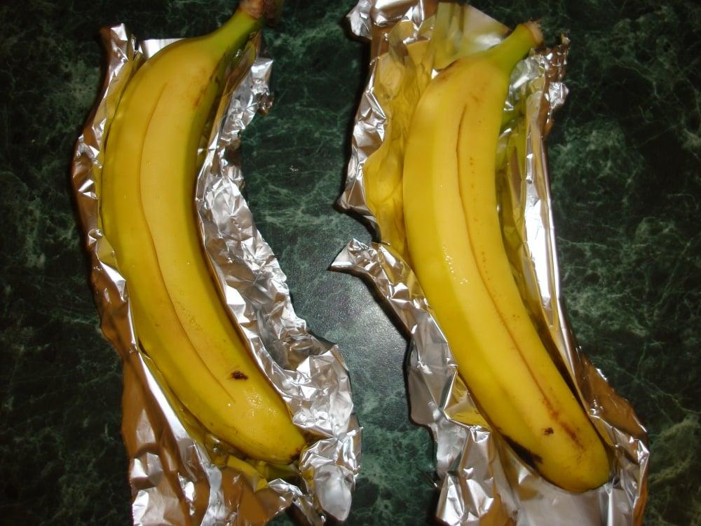 Бананы запеченные с шоколадом - приготовление, шаг 2