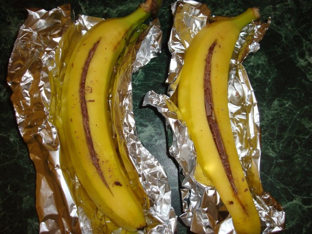 Бананы запеченные с шоколадом - приготовление, шаг 3