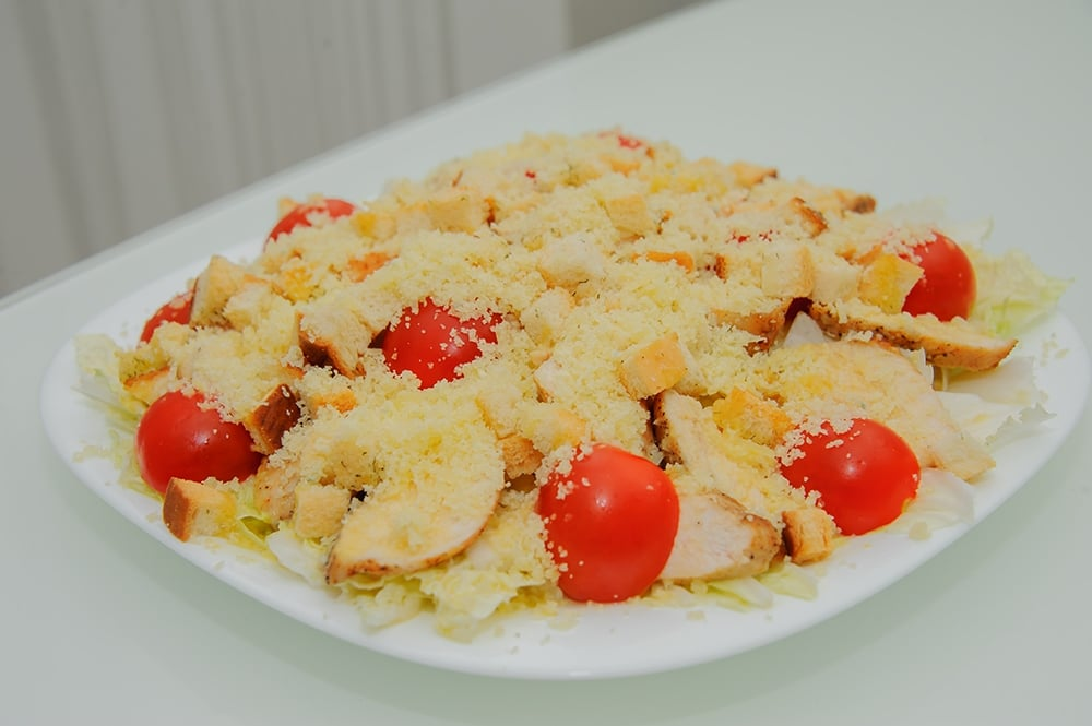 салат цезарь рецепт салат айсберг