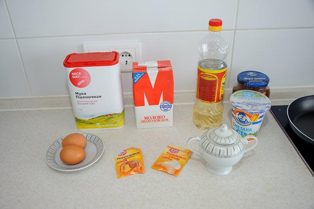 Блины на молоке - приготовление, шаг 1