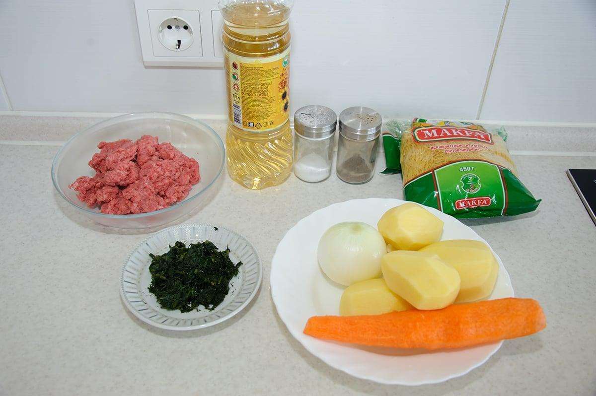 Суп с фрикадельками - приготовление, шаг 1