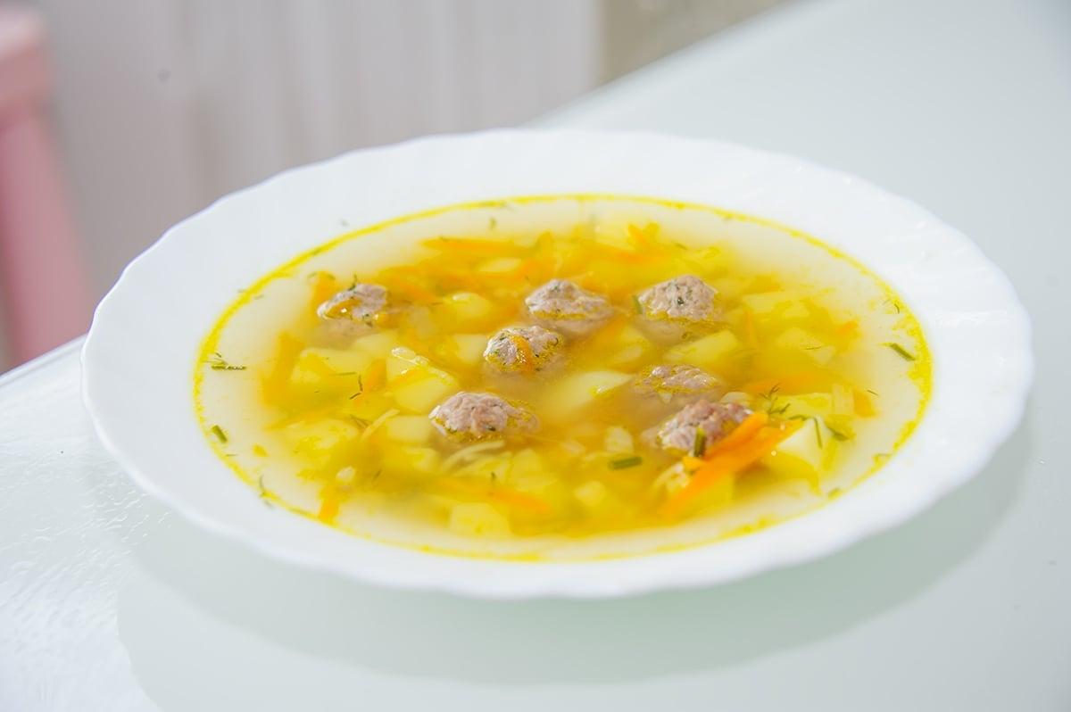 Суп с фрикадельками - приготовление, шаг 7
