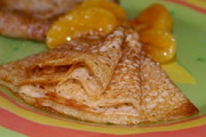 Блинчики с мандаринами