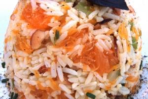 Рисовая каша с мандаринами